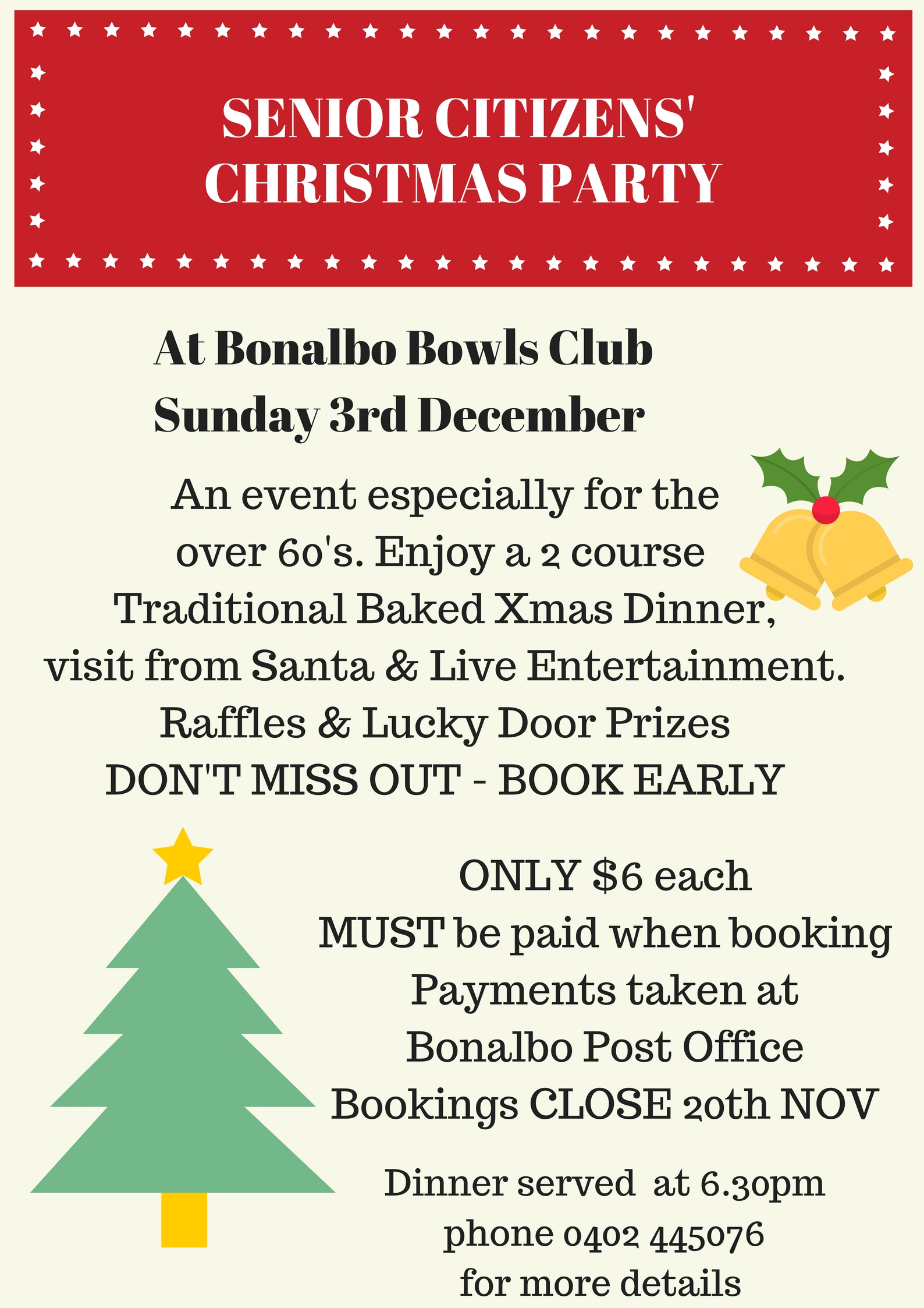 Senior Citizens\' Christmas Party Bonalbo – Kyogle Council